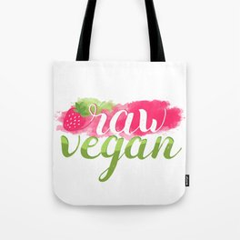 QUOTE Raw Vegan Strawberry Tote Bag
