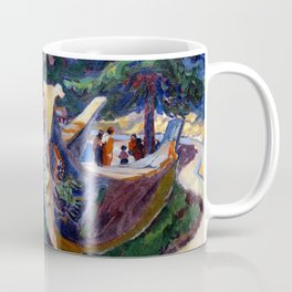 Emily Carr - War Canoes, Alert Bay - Canada, Canadian Oil Painting - Group of Seven Coffee Mug