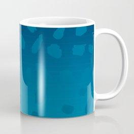 Ombre Blue Spots Hawaii Mermaid Coffee Mug