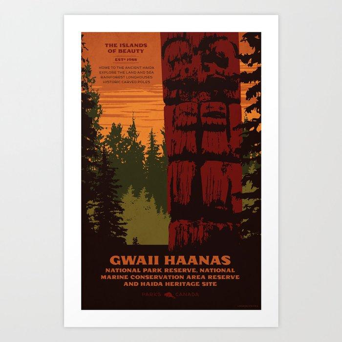 Gwaii Haanas National Park Reserve, National Marine Conservation Area Reserve & Haida Heritage Site Art Print