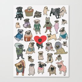 Pugs Canvas Print