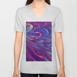 Cosmic Waves Unisex V-Neck