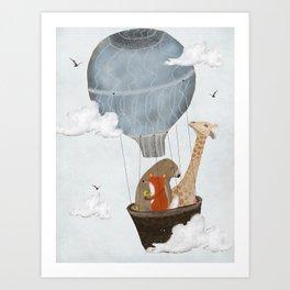 a big adventure Art Print
