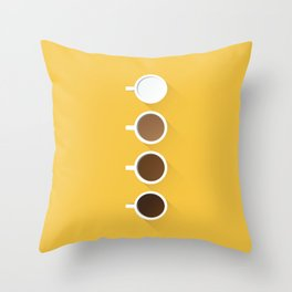 Coffee + Simplicity Throw Pillow