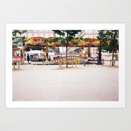 St Honore Hotel Paris france summer fair world cup 1998 zollione shop Art Print