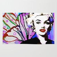 marilyn Area & Throw Rugs featuring Marilyn  by Saundra Myles