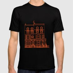 Town House Mens Fitted Tee MEDIUM Black