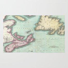 Vintage Map of Nova Scotia and Newfoundland (1807) Rug