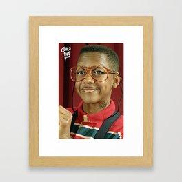 chola urkel aka lil stalker Framed Art Print
