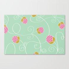 Raspberry Patch Aqua Canvas Print