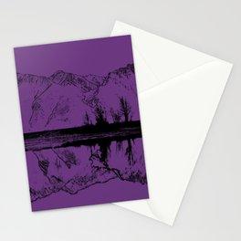 Knik River Mts. Pop Art - 2 Stationery Cards