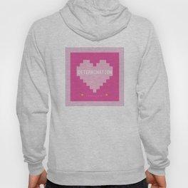 Pink Kawaii Undertale Determination pixel heart Hoody
