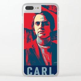 Carl Sagan Art Clear iPhone Case