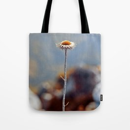 Alone at the top of the world Tote Bag
