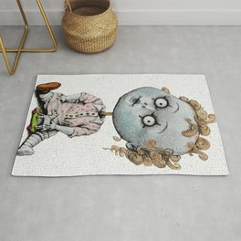 The Zombie Games (girl) Rug