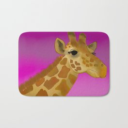 Color Pop Giraffe Bath Mat