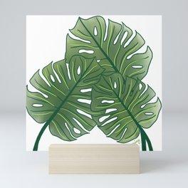 Large Monstera Leaf in Moss Green Mini Art Print