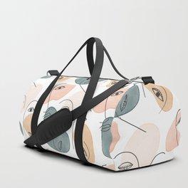 Minimal Figurative Pattern #society6 #buyart Duffle Bag