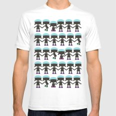 Roller Derby Paper Chain Dolls Mens Fitted Tee White MEDIUM