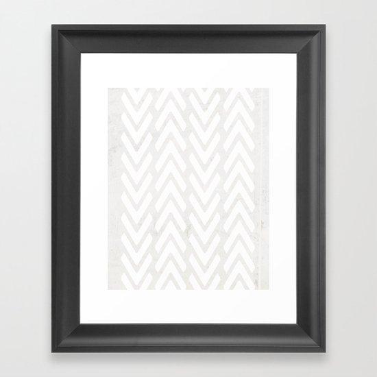 Chevron Tracks Framed Art Print