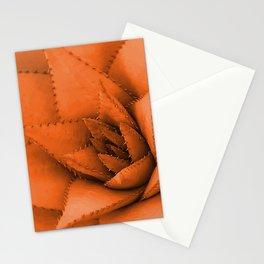 Floral Big Succulent orange Illustration +society6 Stationery Cards