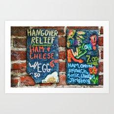 Hangover Relief Art Print