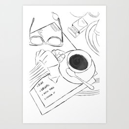 Café Crème Art Print