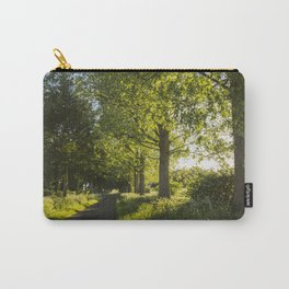 sunset through avenue of Poplar trees along a country road Carry-All Pouch