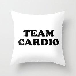 TEAM CARDIO Throw Pillow
