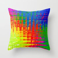 chaos Throw Pillows featuring Chaos by Geni