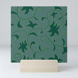 Tropical Leaves Climbing Plants Solid Colors Mini Art Print
