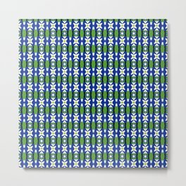 Links of Blue and Green Metal Print