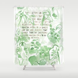 """""""Conquest of the Useless"""" by Werner Herzog Print (v. 2) Shower Curtain"""