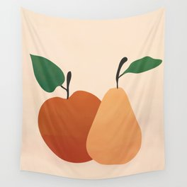 An Apple and a Pear Wall Tapestry