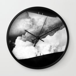 State of black and white isolation Wall Clock