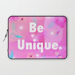 Be unique logo floral design Laptop Sleeve