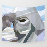 snow Wall Tapestries featuring Snow by Liam Brazier