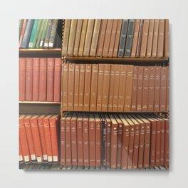 Bookshelves Metal Print