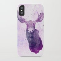 springsteen iPhone & iPod Cases featuring Moose Springsteen by Lucy Evans