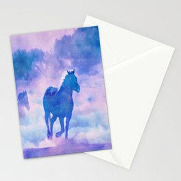 Horses run Stationery Cards