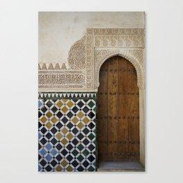 Alhambra Door Canvas Print