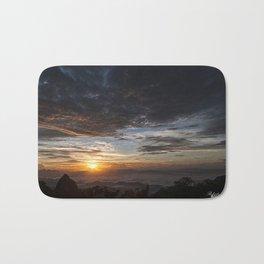 Sunrise on the mountain Bath Mat