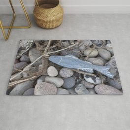 Little Fish At The Beach Rug