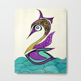 Mystic Swan Metal Print
