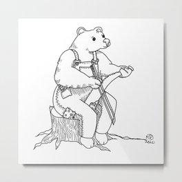 Fiddle Saw Metal Print