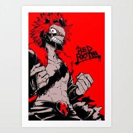 RED RIOT / KIRISHIMA EIJIRO - MY HERO ACADEMIA Art Print