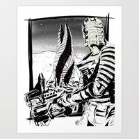 dead space Art Prints featuring Dead Space by Averagejoeart