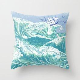 Sea Fever Throw Pillow