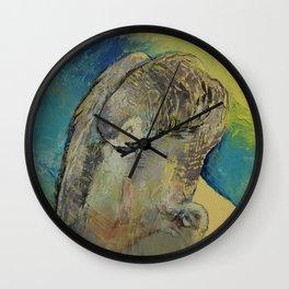 Grey Parrot Wall Clock