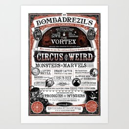 Mr. Bombadrezil's Unique & Wonderful Fair Art Print